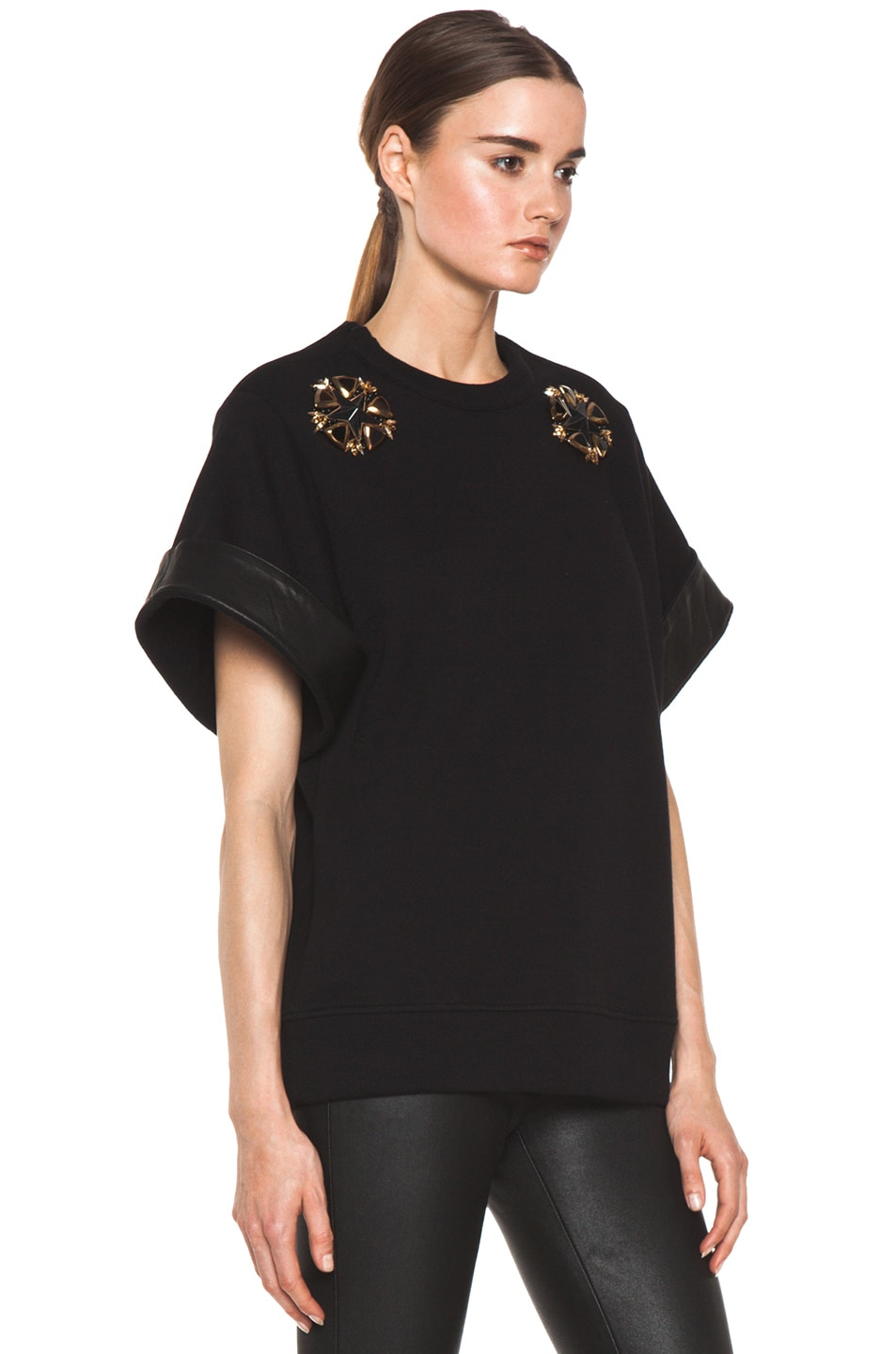 Image 3 of GIVENCHY Star Sweatshirt in Black