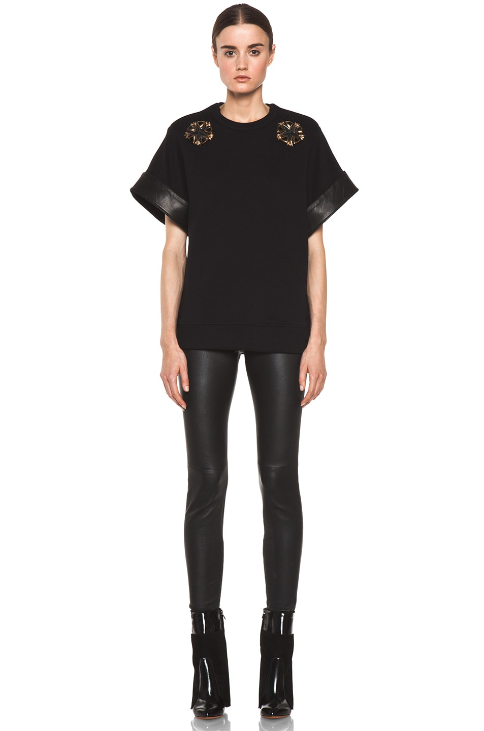 Image 5 of GIVENCHY Star Sweatshirt in Black