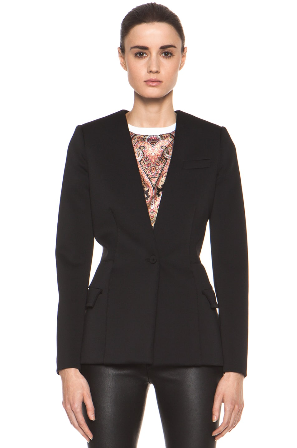 Image 2 of GIVENCHY Jersey Technique Blazer in Black