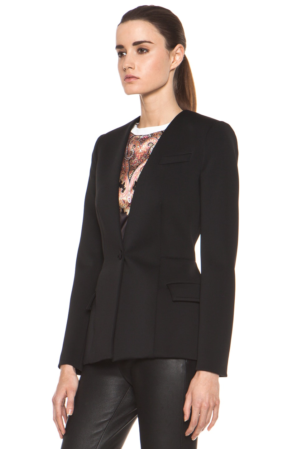 Image 3 of GIVENCHY Jersey Technique Blazer in Black