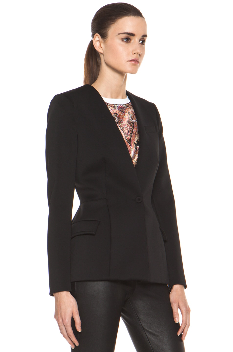 Image 4 of GIVENCHY Jersey Technique Blazer in Black