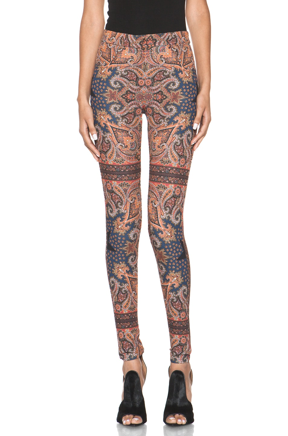 Image 1 of GIVENCHY Block Print Paisley Legging in Multi