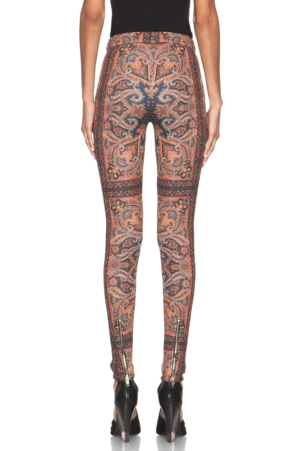 Image 4 of GIVENCHY Block Print Paisley Legging in Multi