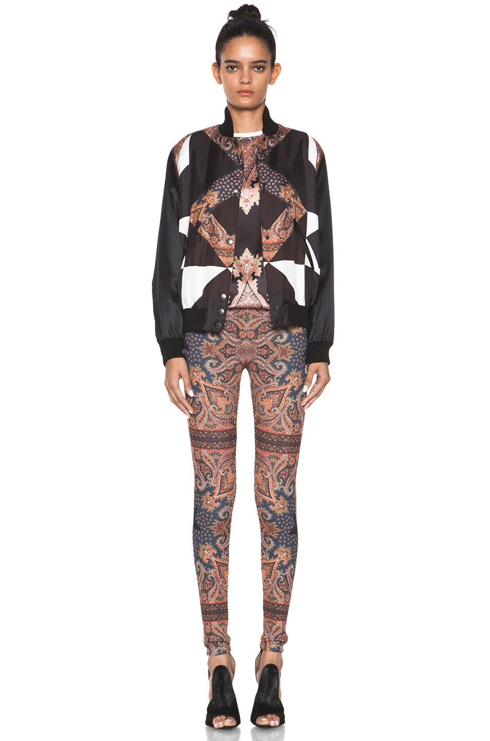 Image 5 of GIVENCHY Block Print Paisley Legging in Multi