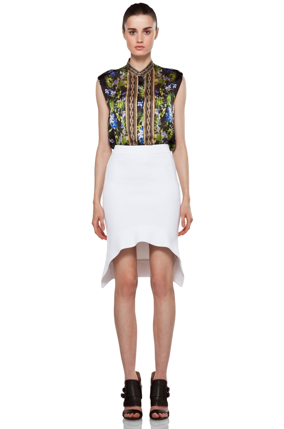 Image 5 of GIVENCHY Mini Skirt in White