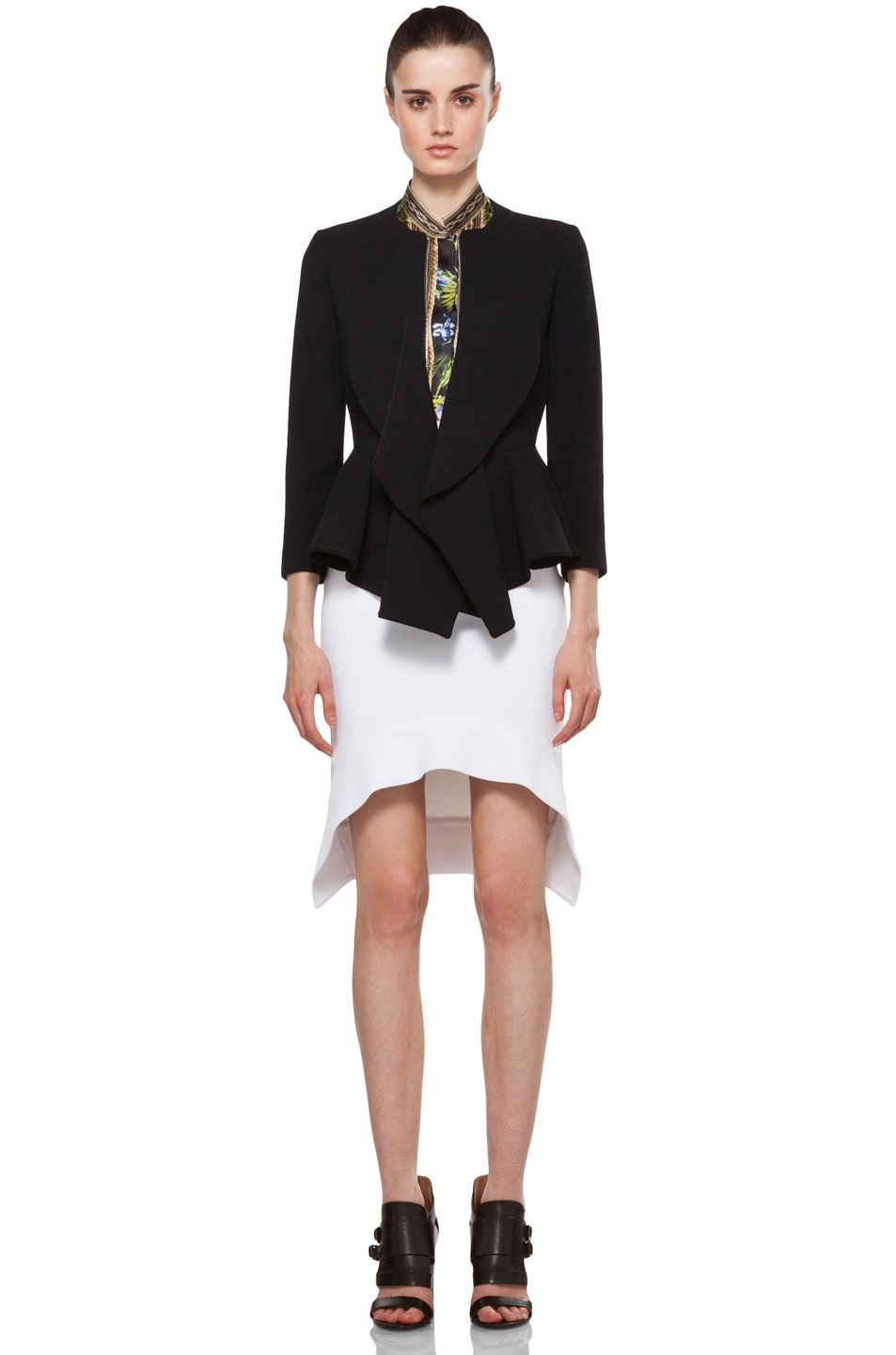 Image 6 of GIVENCHY Mini Skirt in White