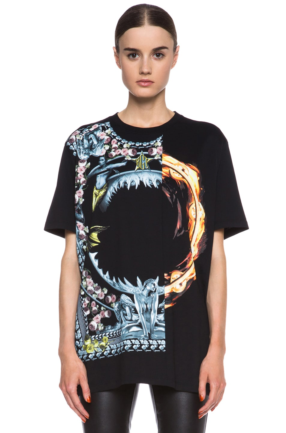 Image 1 of GIVENCHY Orgy vs. Flame Cotton Tee in Black