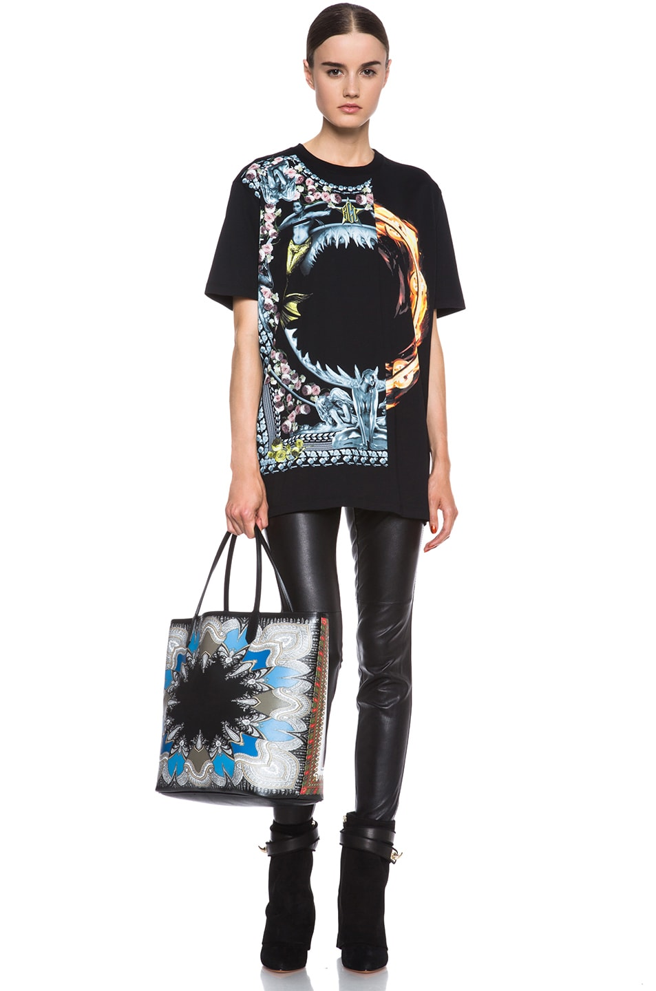 Image 5 of GIVENCHY Orgy vs. Flame Cotton Tee in Black