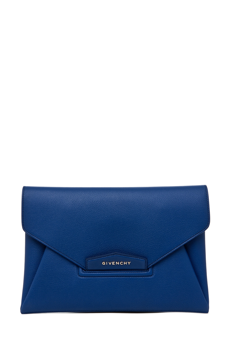 Image 1 of GIVENCHY Antigona Envelope Clutch in Moroccan Blue