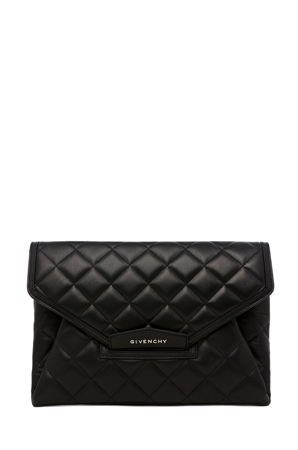 Image 1 of GIVENCHY Padded Antigonia Clutch in Black