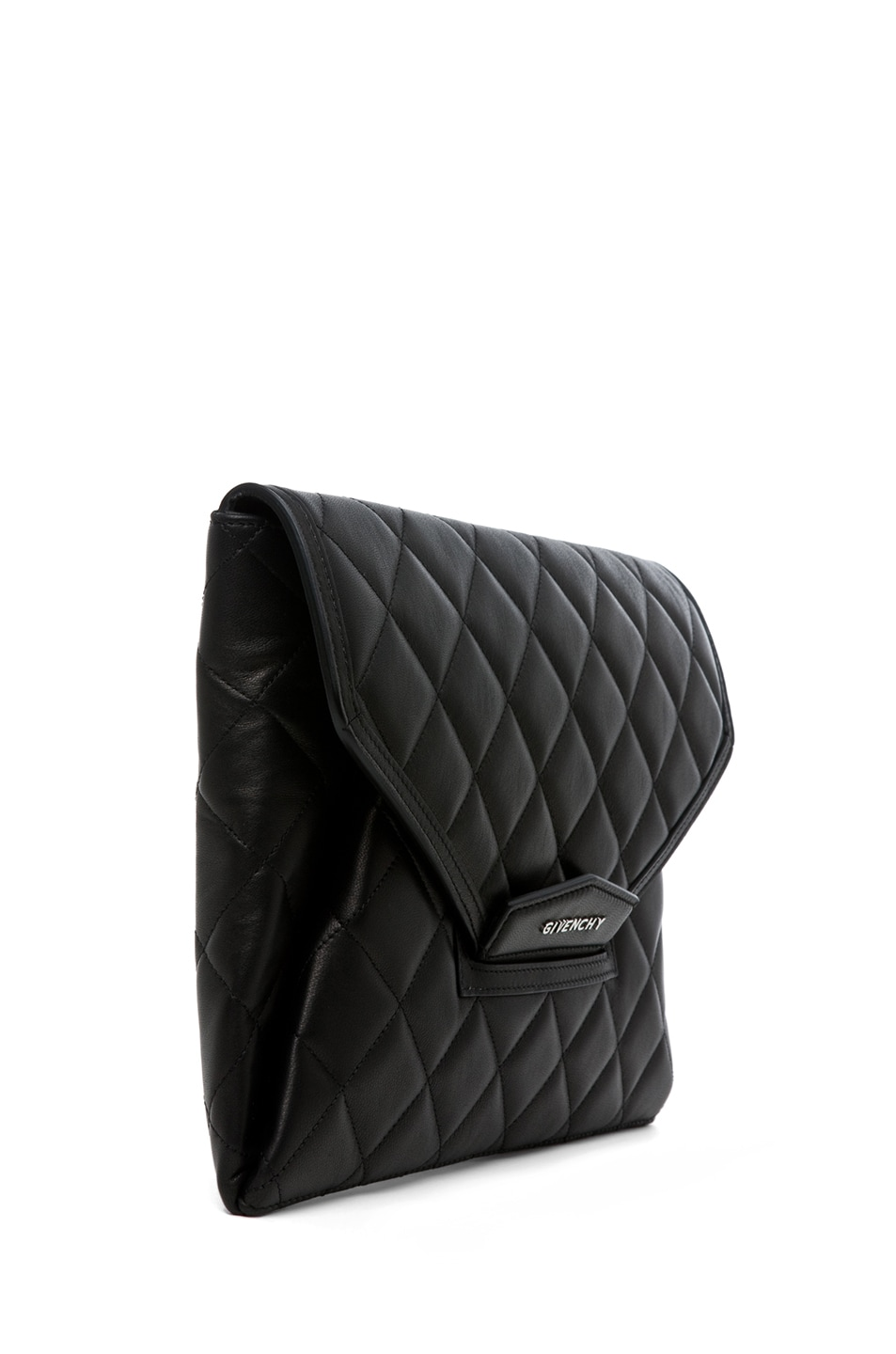 Image 3 of GIVENCHY Padded Antigonia Clutch in Black