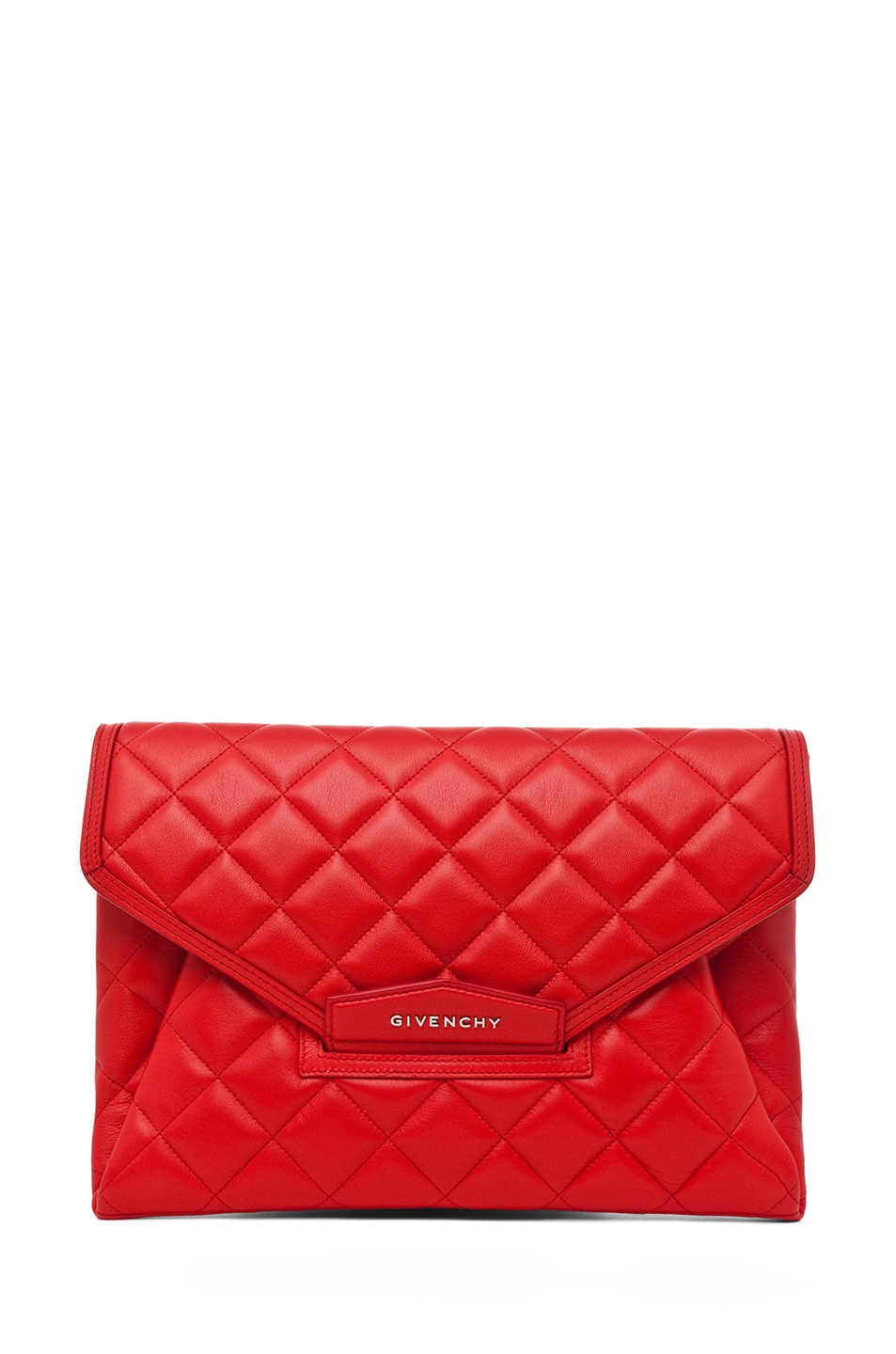 Image 1 of GIVENCHY Padded Antigonia Clutch in Red