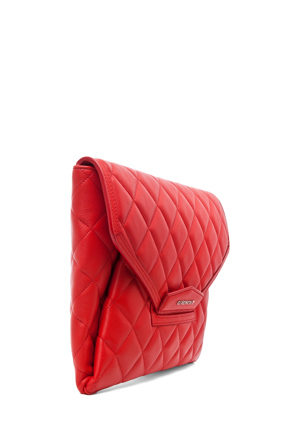 Image 4 of GIVENCHY Padded Antigonia Clutch in Red