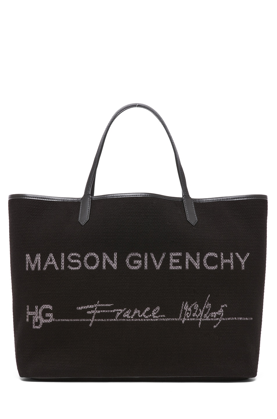 Image 1 of GIVENCHY Antigona Canvas Logo Shopper in Black