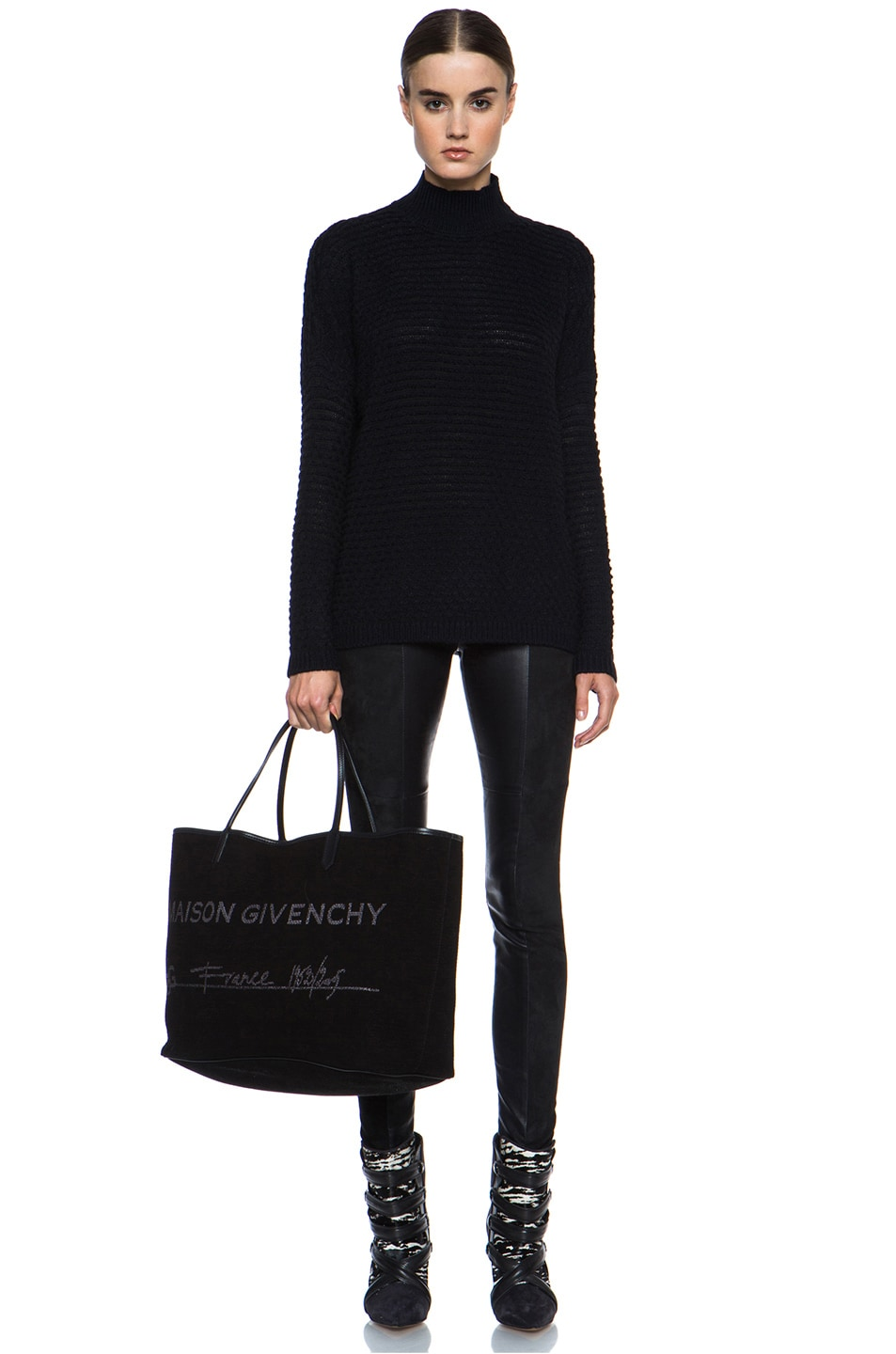 Image 6 of GIVENCHY Antigona Canvas Logo Shopper in Black
