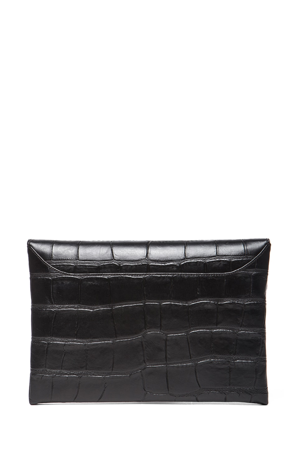Image 2 of GIVENCHY Medium Stamped Croc Antigona Envelope in Black