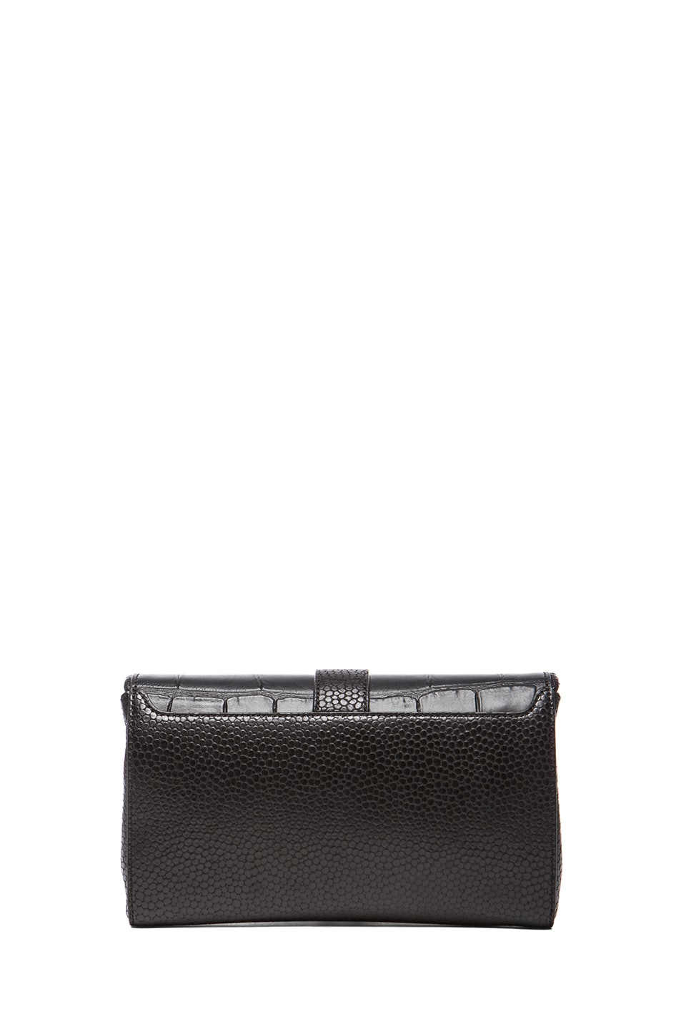 Image 2 of GIVENCHY Evening Obsedia Stamped Croc Clutch with Chain in Black