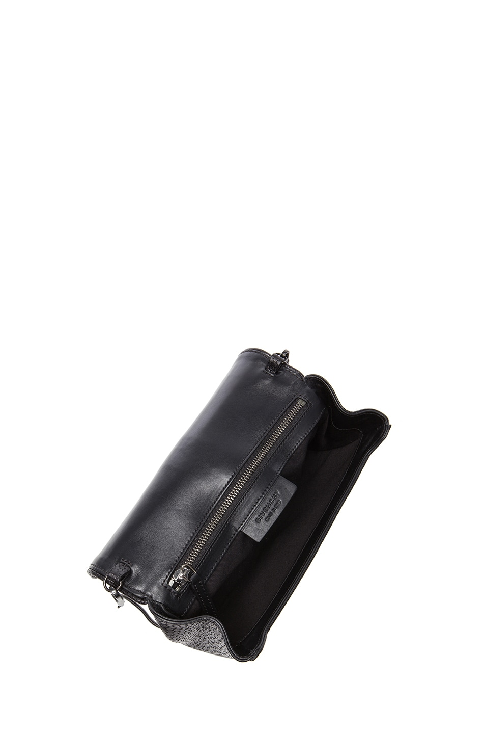 Image 4 of GIVENCHY Evening Obsedia Stamped Croc Clutch with Chain in Black