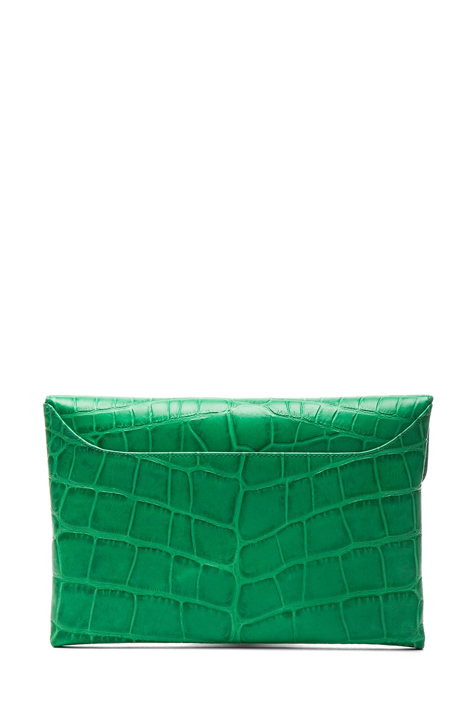 Image 2 of GIVENCHY Medium Antigona Envelope Stamped Croc Clutch in Emerald Green