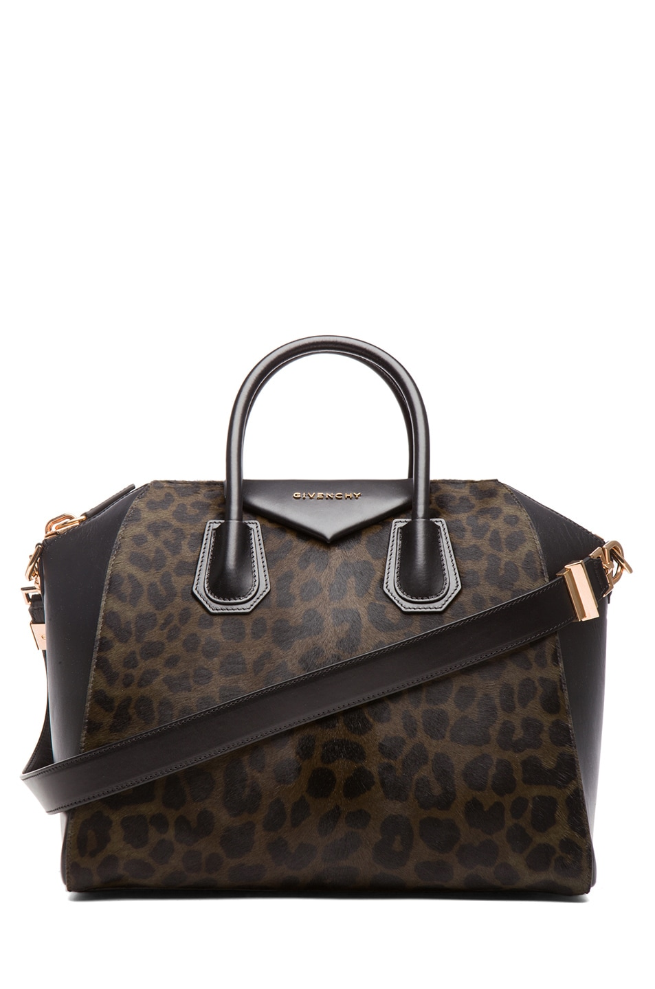Image 1 of GIVENCHY Medium Animal Print Antigona in Light Khaki