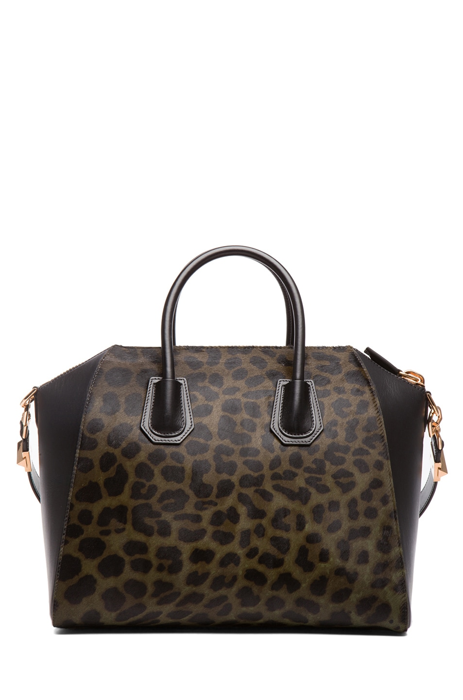 Image 2 of GIVENCHY Medium Animal Print Antigona in Light Khaki