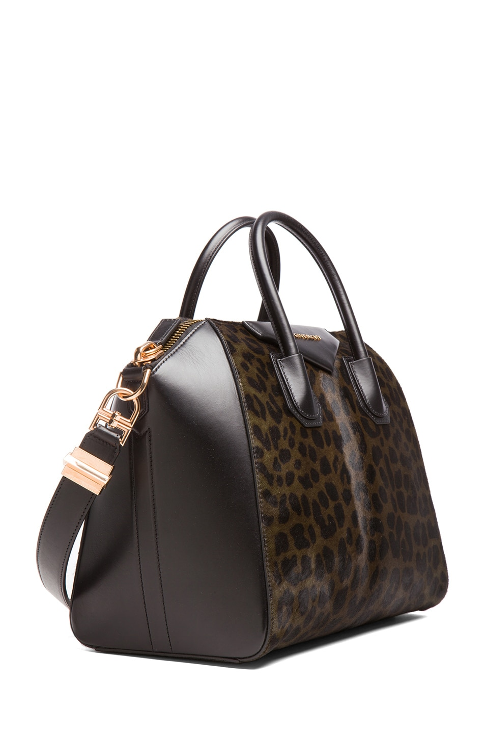 Image 3 of GIVENCHY Medium Animal Print Antigona in Light Khaki