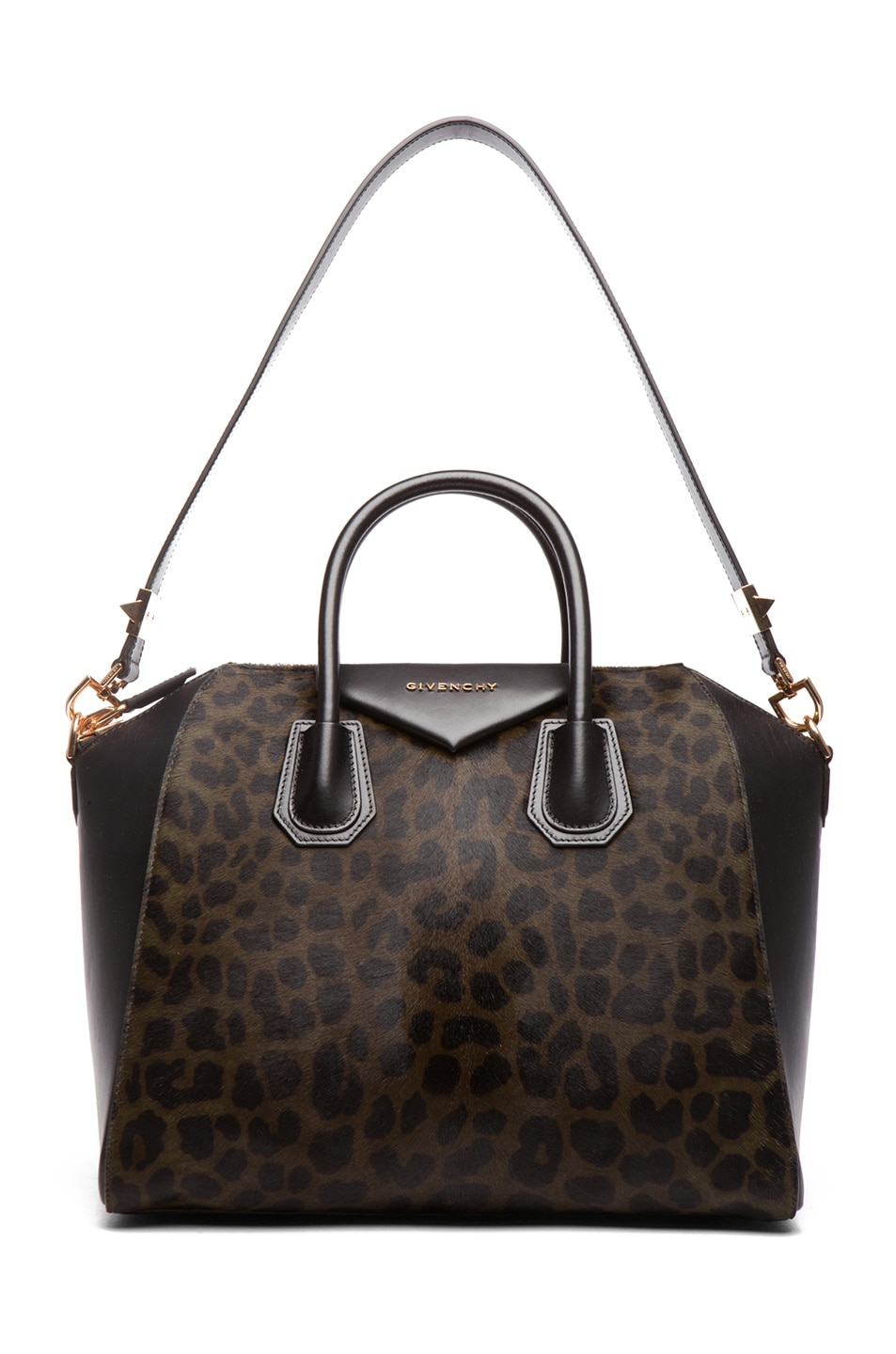 Image 5 of GIVENCHY Medium Animal Print Antigona in Light Khaki