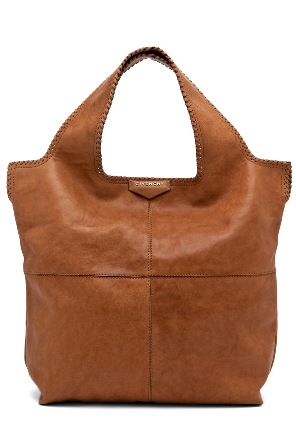 Image 1 of GIVENCHY Big Whipstitch Tote in Camel