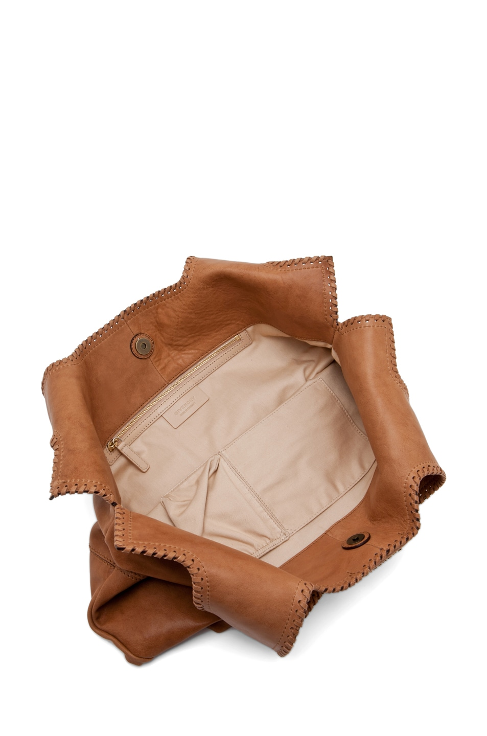 Image 4 of GIVENCHY Big Whipstitch Tote in Camel