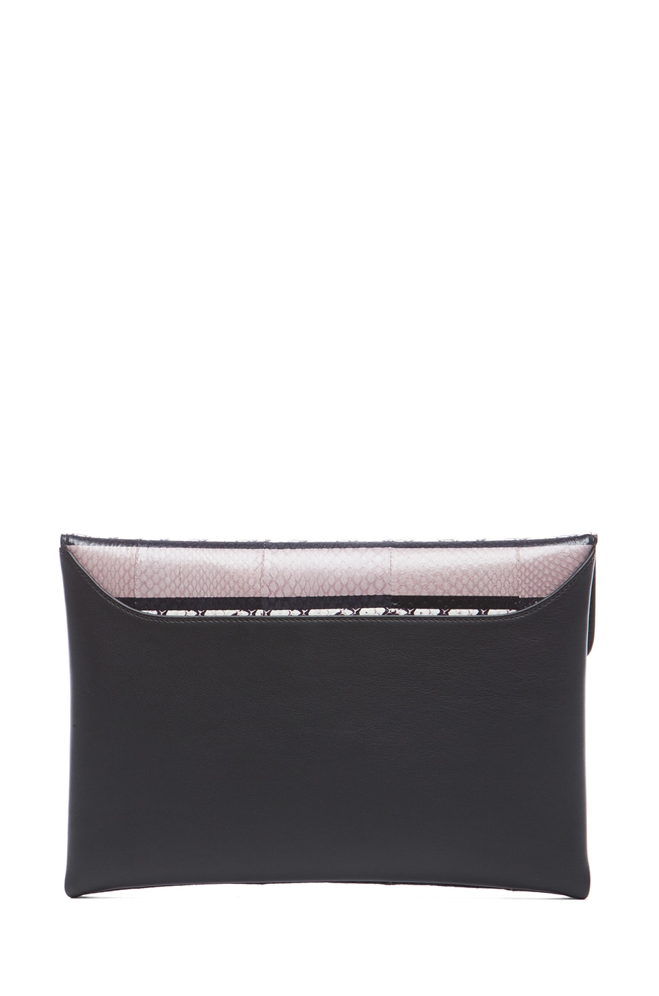 Image 2 of GIVENCHY Medium Ayers Antigona Envelope Clutch in Beige Stripe