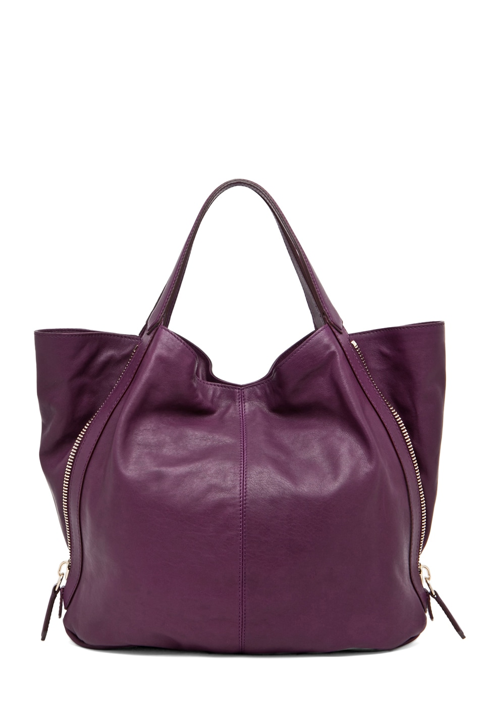 Image 2 of GIVENCHY Tinhan Medium Shopper in Aubergine
