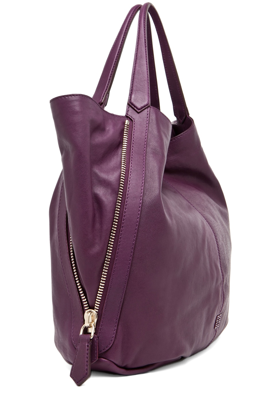 Image 3 of GIVENCHY Tinhan Medium Shopper in Aubergine