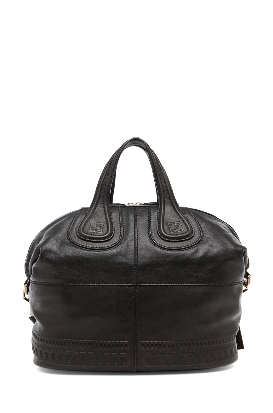 Image 2 of GIVENCHY Nightingale Embossed Detail Medium in Black