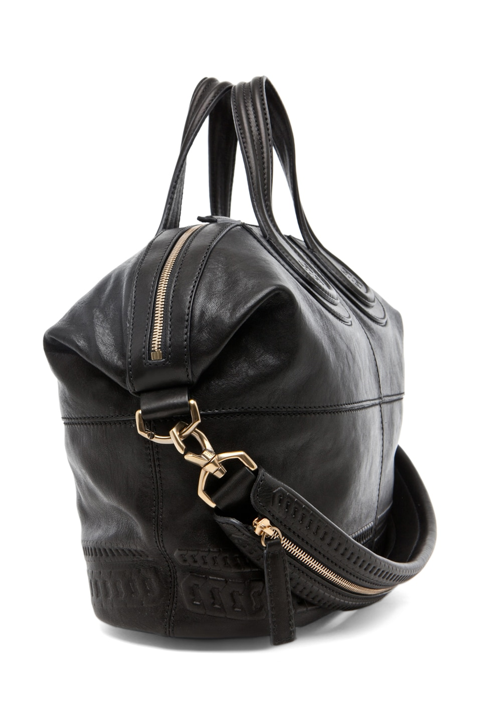 Image 3 of GIVENCHY Nightingale Embossed Detail Medium in Black