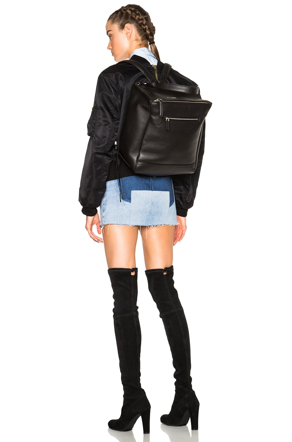Image 2 of Givenchy Pandora Backpack in Black