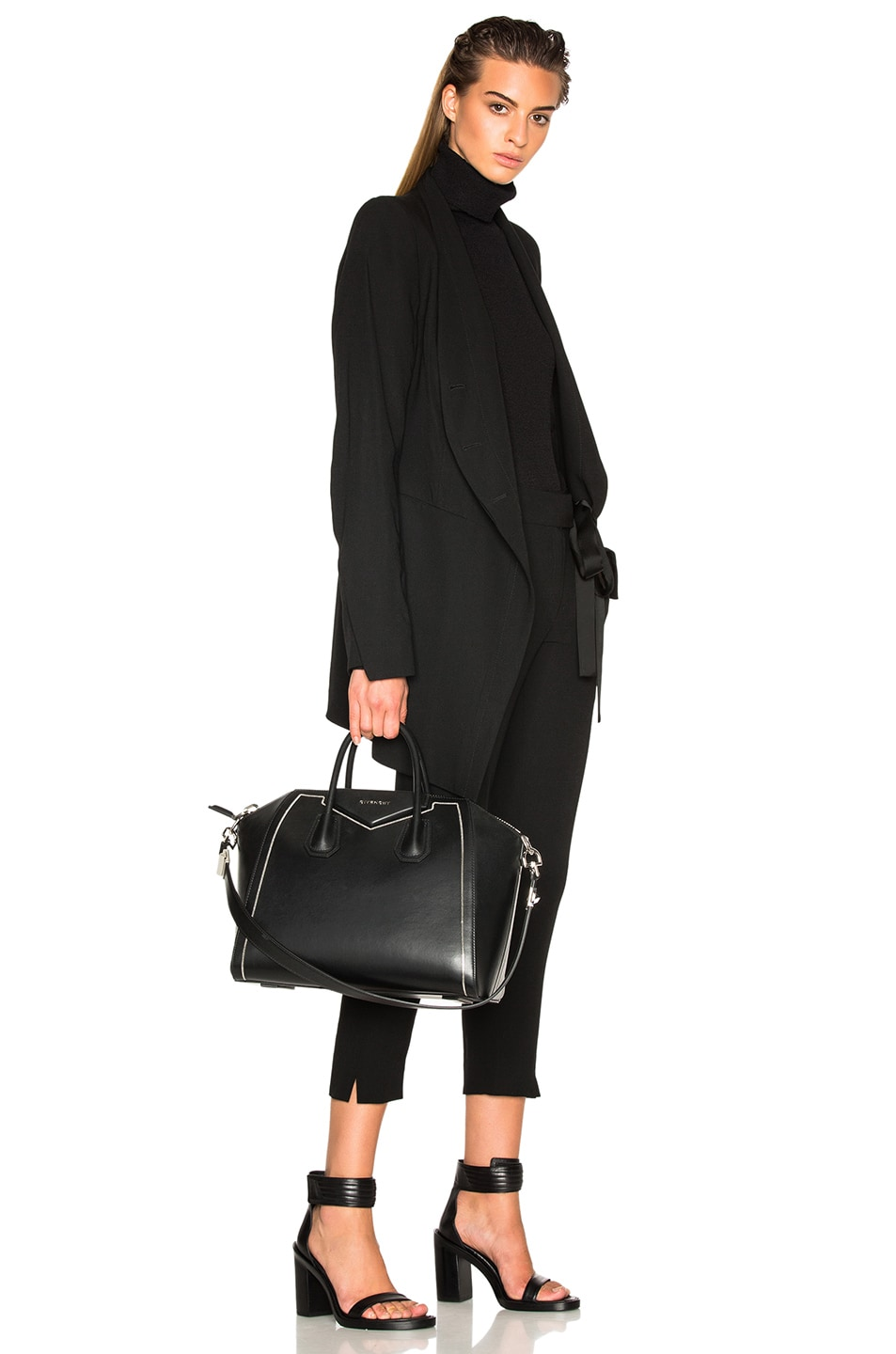 Image 2 of Givenchy Medium Antigona with Chain Detail in Black