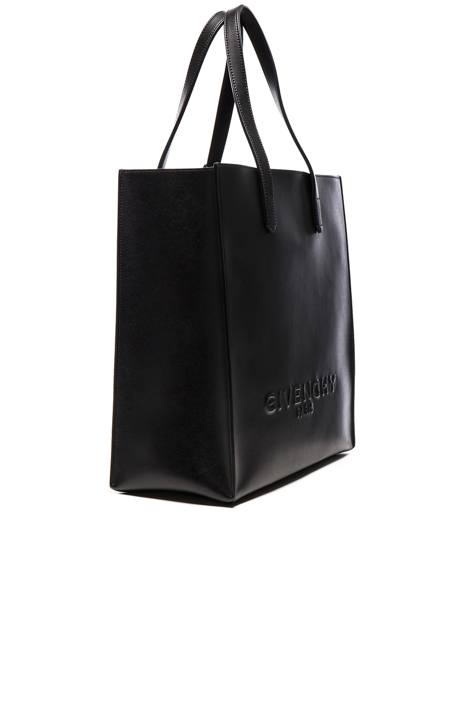 Image 4 of Givenchy Debossed Tote in Black