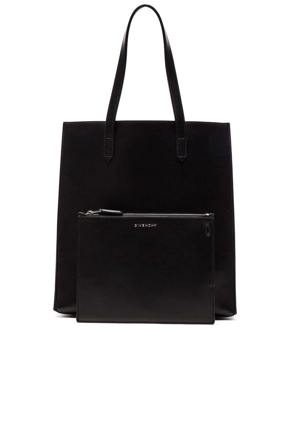 Image 6 of Givenchy Debossed Tote in Black