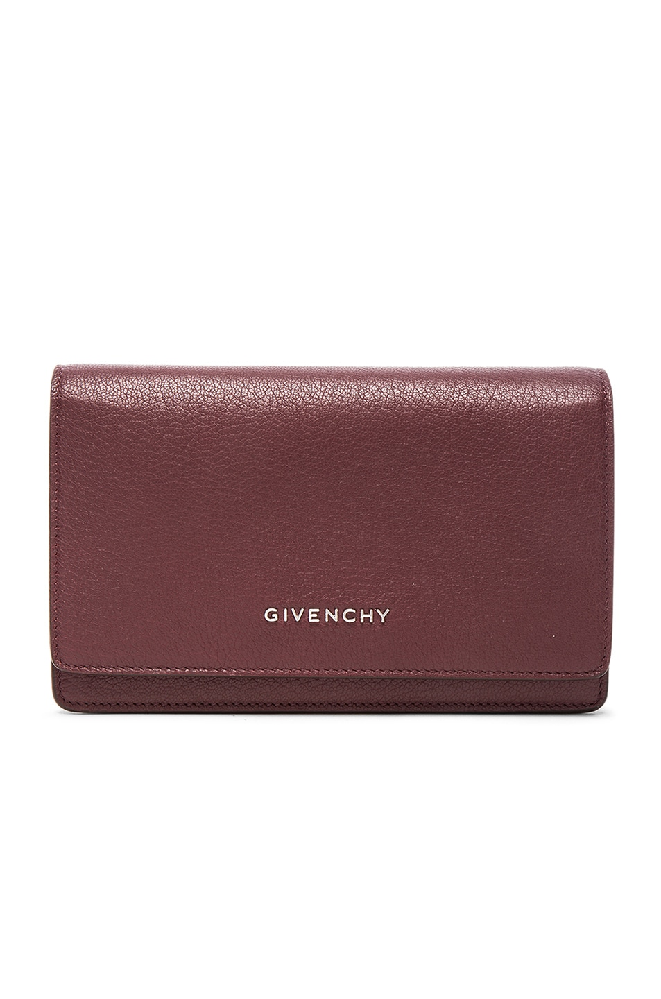 Image 1 of Givenchy Pandora Chain Wallet in Oxblood