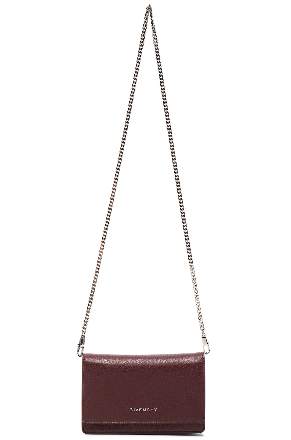 Image 6 of Givenchy Pandora Chain Wallet in Oxblood