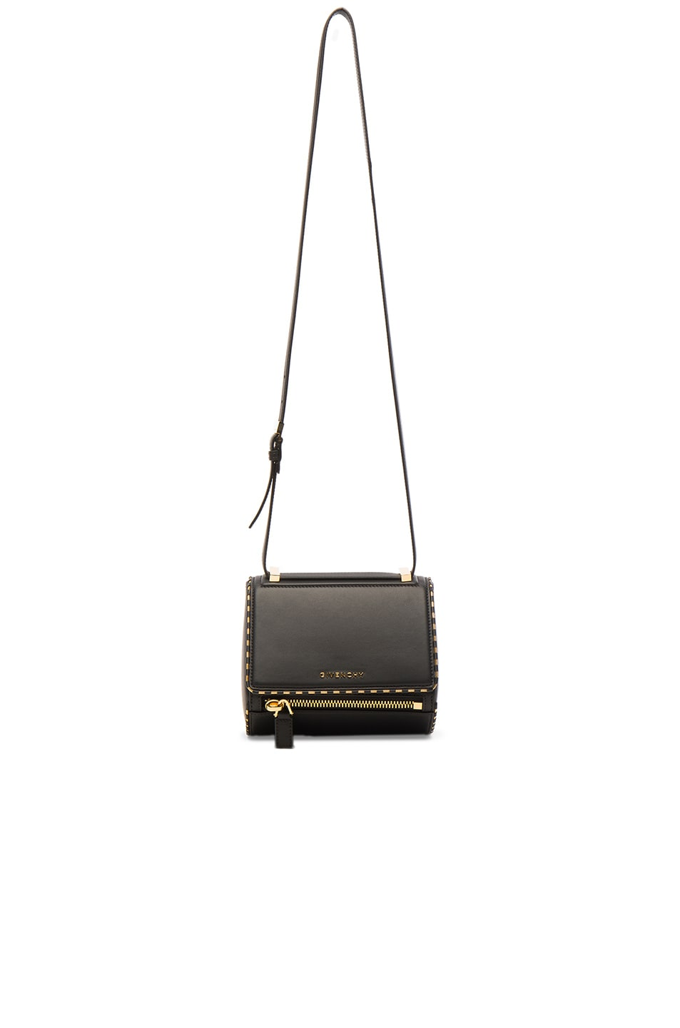 Image 1 of Givenchy Mini Smooth Leather With Chain Piping Pandora in Black