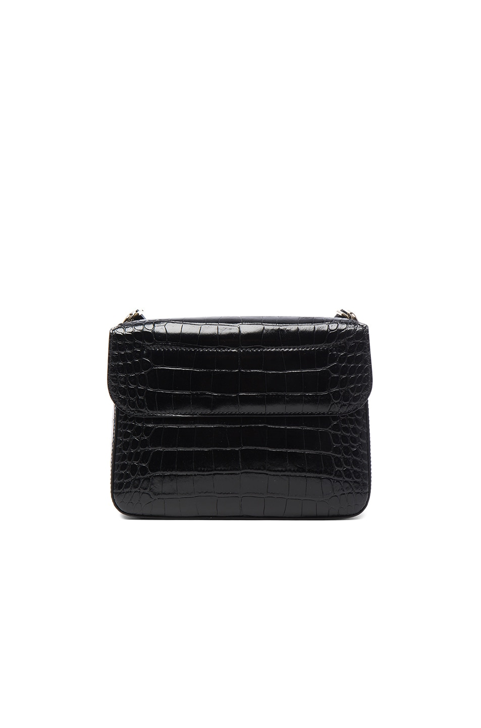 Image 2 of Givenchy Small Crocodile Embossed Leather Nobile in Black