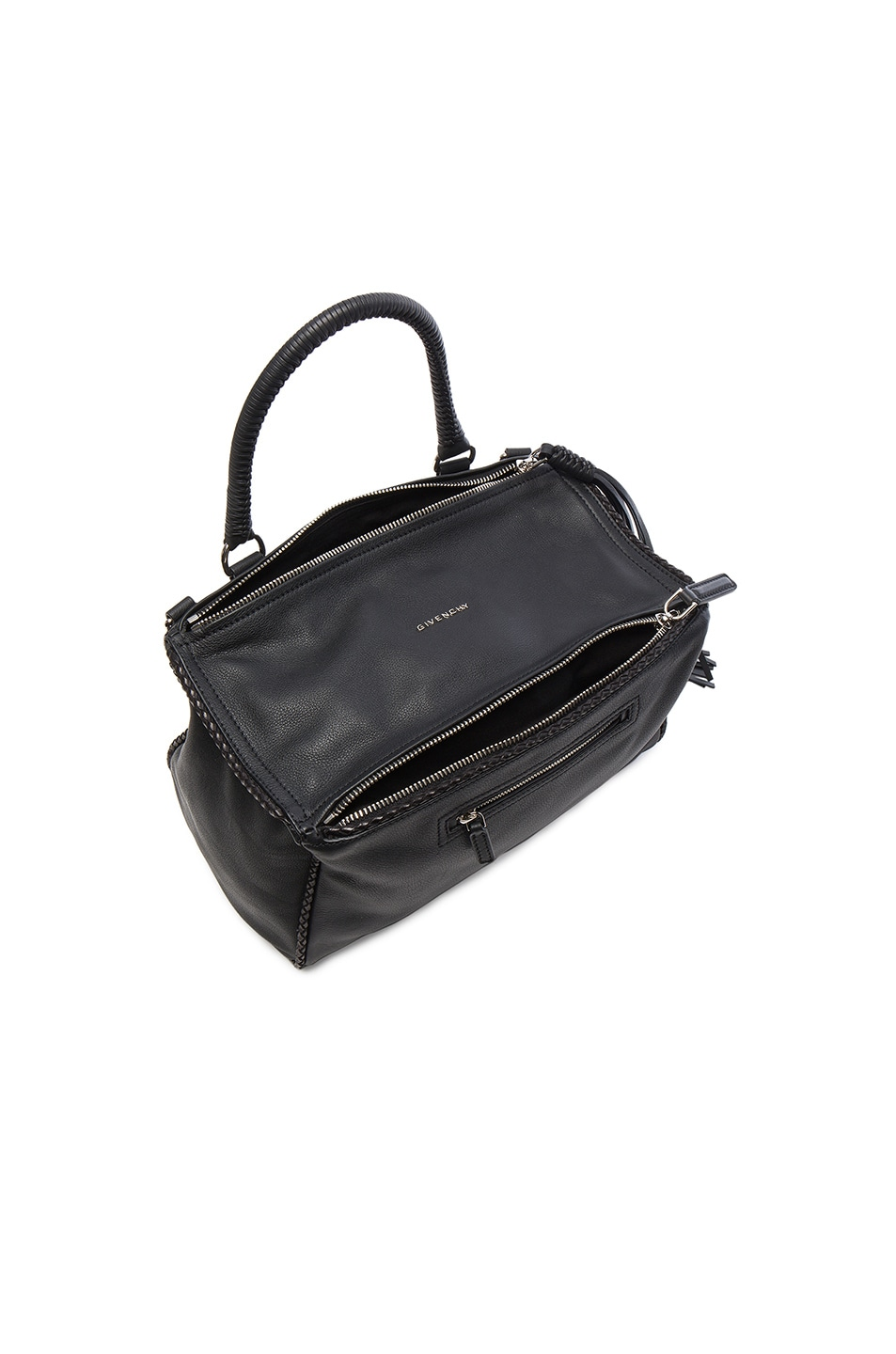 Image 3 of Givenchy Medium Leather With Braided Details Pandora in Black