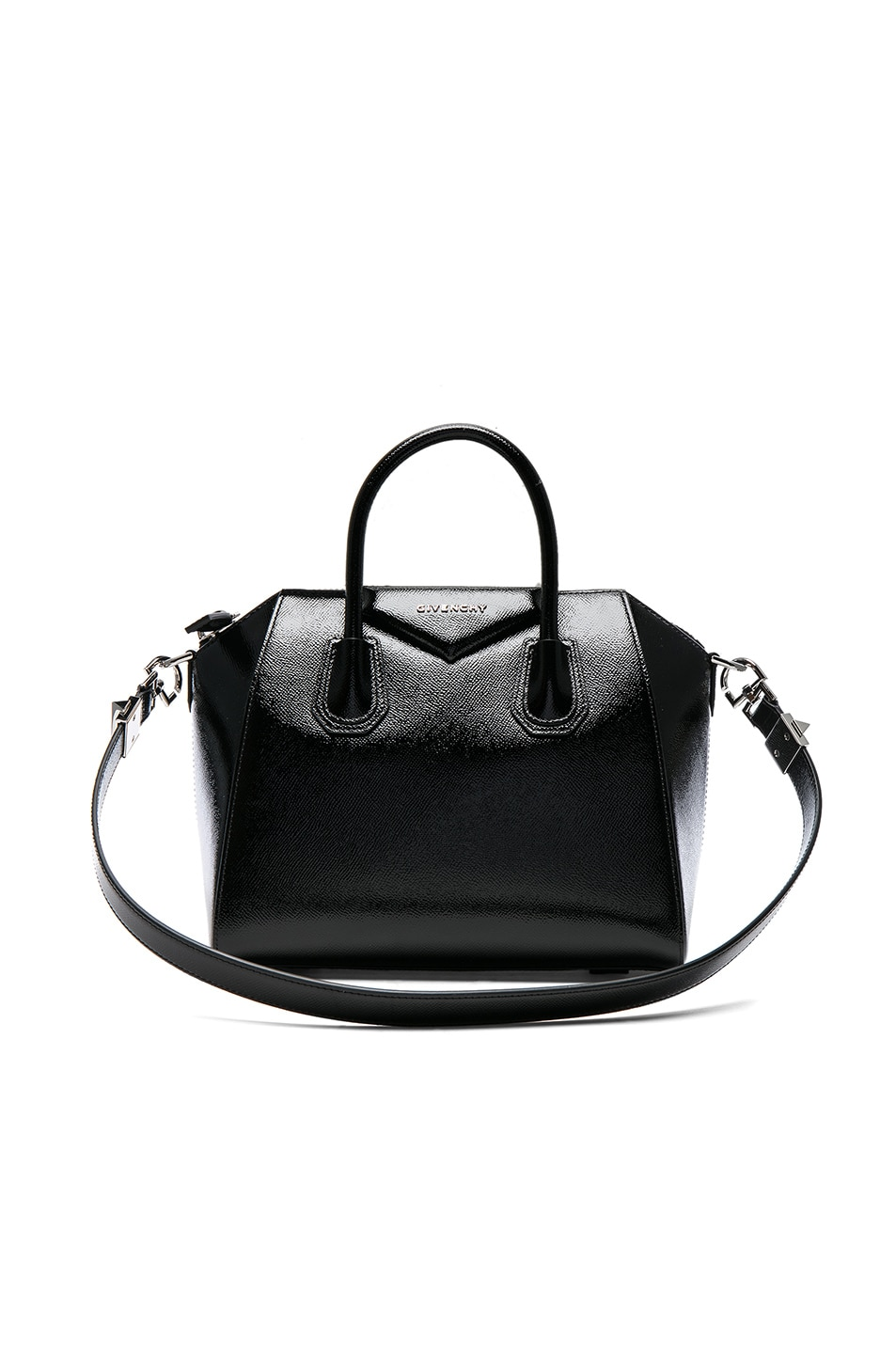 Image 1 of Givenchy Small Patent Leather Antigona in Black