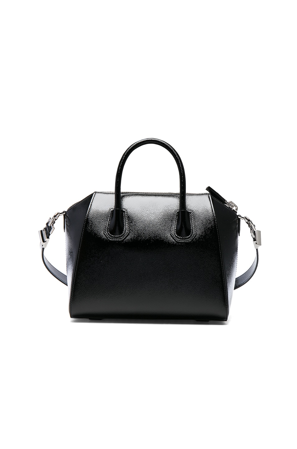 Image 2 of Givenchy Small Patent Leather Antigona in Black