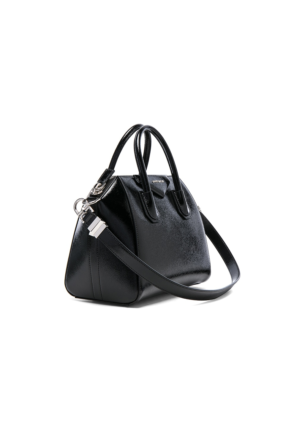 Image 3 of Givenchy Small Patent Leather Antigona in Black