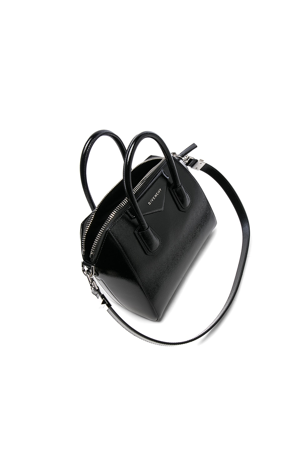 Image 4 of Givenchy Small Patent Leather Antigona in Black