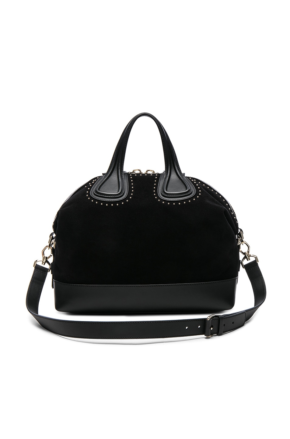 Image 1 of Givenchy Medium Stud Detail Suede Nightingale in Black