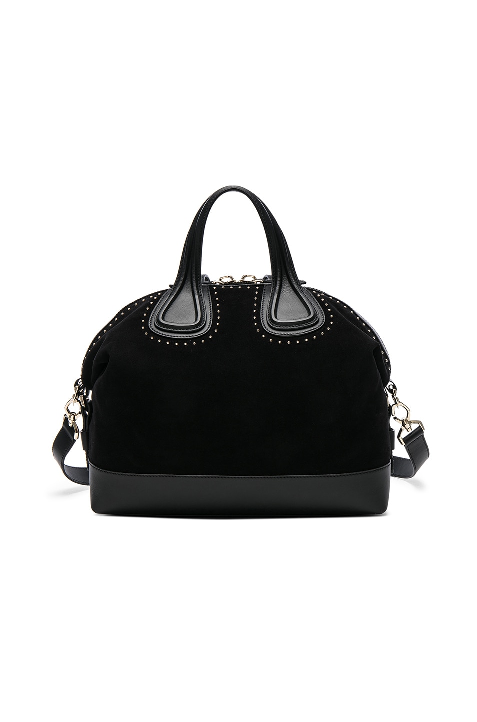 Image 2 of Givenchy Medium Stud Detail Suede Nightingale in Black