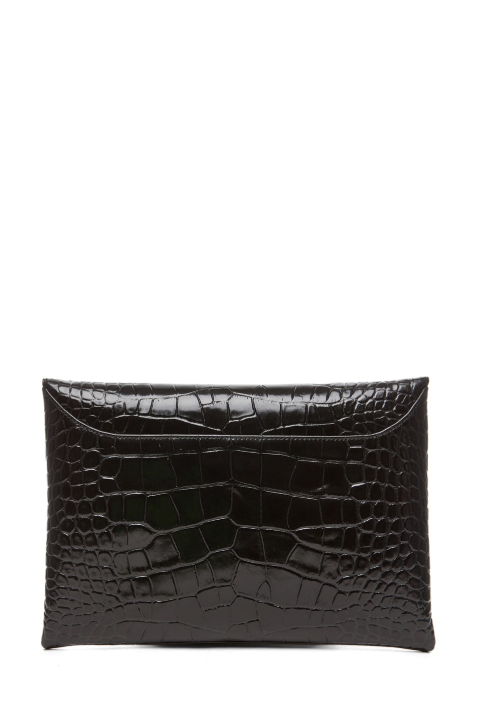 Image 2 of GIVENCHY Antigona Croc Envelope Clutch in Black